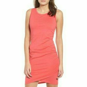 Leith Ruched Body-Con Pink Tank Dress